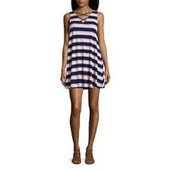 Arizona Sleeveless Casual Knit Dress - Juniors