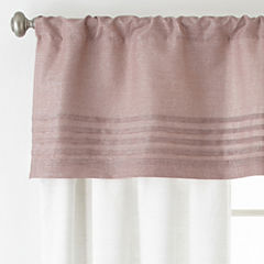 Liz Claiborne Blush Floral Rod-Pocket Curtain Panel