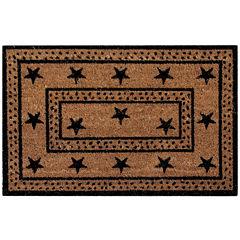 Better Trends Star Coir Rectangular Doormat