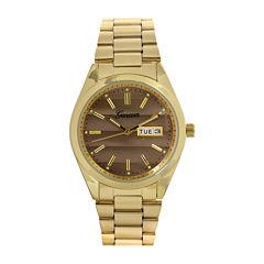 Geneva Womens Gray Dial Gold-Tone Strap Bracelet Watch