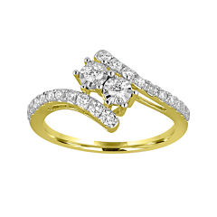 Two Forever™ 1/2 C.T. TW. Diamond 10K Yellow Gold Engagement Ring