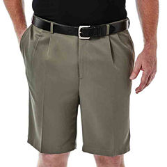 Haggar® Cool 18® No–Iron Pleated Shorts–Big & Tall