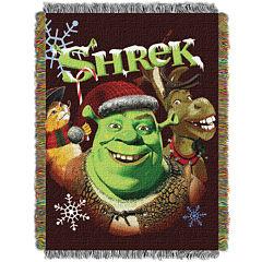 Shrek Holiday Tapestry Throw