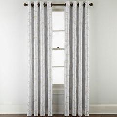 Royal Velvet Plaza Embroidery Blackout Grommet Top Curtain Panel