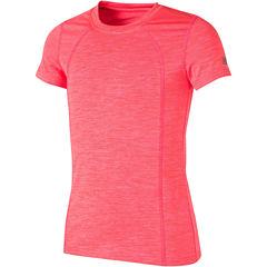 New Balance Short Sleeve Round Neck T-Shirt-Big Kid Girls