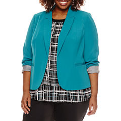 Worthington® Long Sleeve Open Front Blazer - Plus
