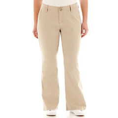 Arizona Schoolgirl Bootcut Pants-Juniors Plus