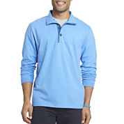 IZOD® Hampton Long-Sleeve Button Mock Fleece Pullover