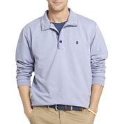 IZOD® Hampton Long-Sleeve Button Mock Fleece Pullover