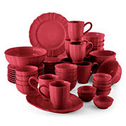 JCPenney Home™ Ashley Scalloped Stoneware 50-pc. Dinnerware Set - Service for 8