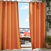 Gazebo Solid Grommet-Top Outdoor Curtain Panel