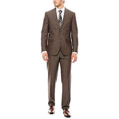 JF J. Ferrar® End on End Taupe Slim-Fit Suit Separates