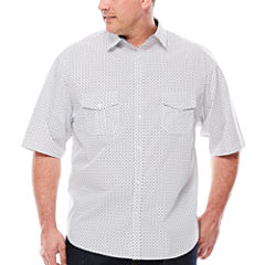 D'Amante Short-Sleeve Woven Shirt - Big & Tall