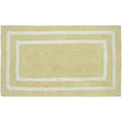 Jean Pierre Double Border Reversible Cotton Bath Mat