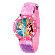 Disney Disney Princess Girls Purple Strap Watch-Wds000056