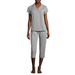 Laura Ashley Cotton Blend Pant Pajama Set