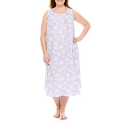Adonna Sleeveless Nightgown-Plus