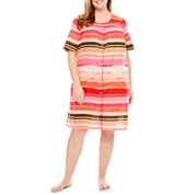 Adonna Poplin Short Sleeve Nightgown