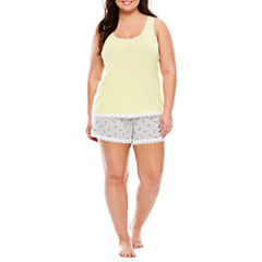 Sleep Chic Shorts Pajama Set-Plus