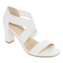 Andrew Geller Queena Womens Heeled Sandals