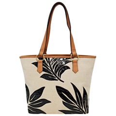 St. John's Bay Leaf Applique Tote Bag
