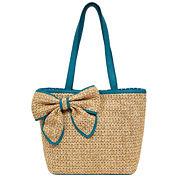 St. John's Bay Straw Box Tote Bag