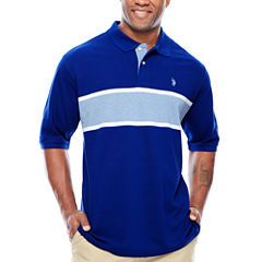 U.S. Polo Assn. Embroidered Short Sleeve Solid Pique Polo Shirt Big and Tall