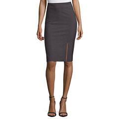 Worthington Off Center Slit Skirt
