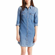Levi's® 3/4 Sleeve Shirt Dress