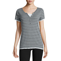 Made For Life Short Sleeve Crew Neck T-Shirt-Womens Talls
