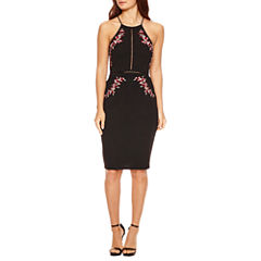 Bisou Bisou Sleeveless Fully Lined Sheath Dress