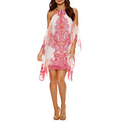 Bisou Bisou Cold Shoulder Trapeze Dress