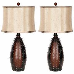 Safavieh Santa Fe Faux Leather Lamp