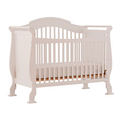 Storkcraft Valentia 4-in-1 Convertible Crib- White