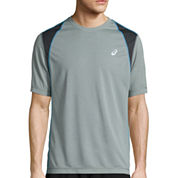 Asics® Short-Sleeve Mesh Heather Tee