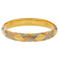 Womens 14K Gold Bangle Bracelet