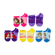 Girls 5 Pair Disney Princess No Show Socks-Big Kid