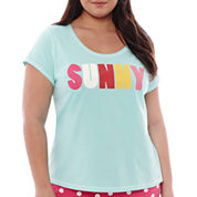 Sleep Chic® Short-Sleeve Sleep Tee - Plus
