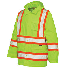 Work King High-Visibility Rain Jacket - Big & Tall