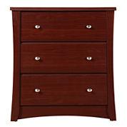 Storkcraft Crescent 3-Drawer Nursery Dresser - Cherry