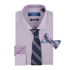Graham & Co. Long-Sleeve Dress Shirt, Tie and Pre-Tied Bow Tie