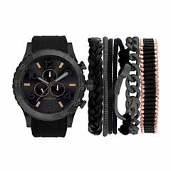 Rocawear Mens Black 7-pc. Watch Boxed Set-Rmst5174b328-264