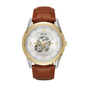 Relic Mens Brown Strap Watch-Zr77280