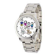 Unisex Silver Tone Bracelet Watch-41478-S