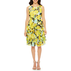 Robbie Bee Sleeveless A-Line Dress-Petites