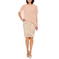 Ronni Nicole 3/4 Sleeve Sheath Dress