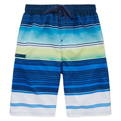 Burnside Boys Stripe Swim Trunks-Big Kid
