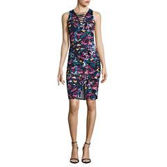 Belle + Sky Lace Up Slit Front Dress