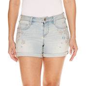 Bold Elements Embellished Midi Shorts