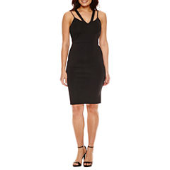 Bold Elements Caged V-Neck Bodycon Dress